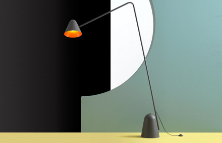 Lampa Pylaz oddesignéra Michaela Raasche zajistí osvětlení přesně tam, kde jej potřebujete, ať už čtete, nebo jen potřebujete koncentrovanější světlo.