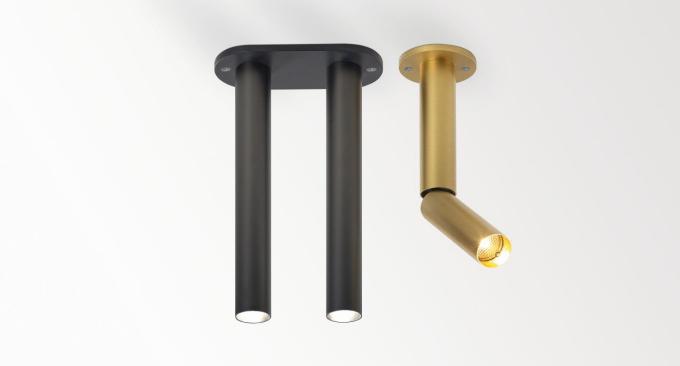 Štíhlý tvar kolekce Needle reflektuje eleganci a sofistikovanost těchto svítidel. Úzké trubice jakoby vycházejí přímo ze stropu a snadno si posvítí na cokoliv, co je poblíž. Použití jednotlivých svítidel nabízí čisté a jednoduché řešení, zatímco uskupení více kousků vytváří hravé kombinace. Varianty Needle jsou jednotlivé nebo zdvojené trubice, k přisazení ke stropu nebo v zápustné variantě, pevné nebo náklopné. Povrchová úprava nabízí vlámskou zlatou barvu nebo černý bronz.