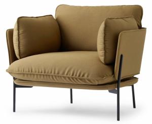 Křeslo Cloud LN1 (Tradition), design Luca Nichetto, kovová základna, textilní čalounění, 75 × 100 × 84cm, cena 66150Kč, WWW.DESIGNVILLE.CZ