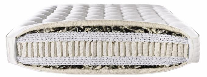 Řez matrací od anglického výrobce Somnus, 100% organické složení – koňské žíně, bavlna, vlna, cena dle konfigurace