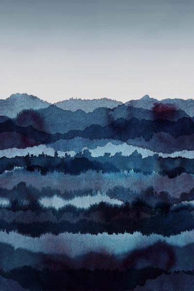 Tapeta Midnatt (Sandberg), design Karolina Kroon, vlies, 270 × 180cm, cena 6390Kč,  www.designville.cz