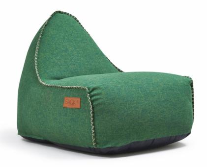 Puf RETROit (SACKit), potah z95% polyester a5% bavlna, výplň prostřednictvím perliček EPS, 80 × 96  × 70cm, cena od7237Kč, www.stockist.cz