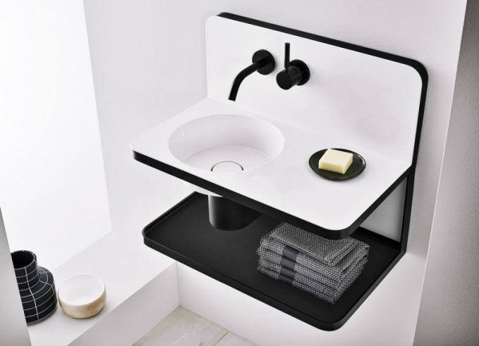 Umyvadlo Steel 19 (Alape), design Sieger Design, glazovaná ocel, orientační cena 75000Kč, www.elitebath.cz