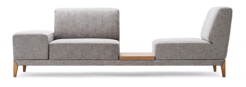 Pohovka Move (Extraform), dubové dřevo, látkové čalounění, 81 × 42 × 60cm, cena nadotaz, www.extraform.rs