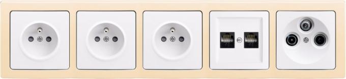 pětirámečková řada zásuvek, komunikačních a anténních zásuvek Swing L (ABB)