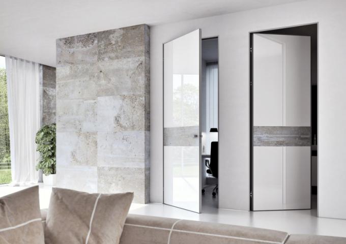 Dveře Master Door se zárubní Emotive (J.A.P. Future), lakované sklo akamenná dýha, hliníkové profily, cenaod14944Kč,  www.dvere-jap.cz