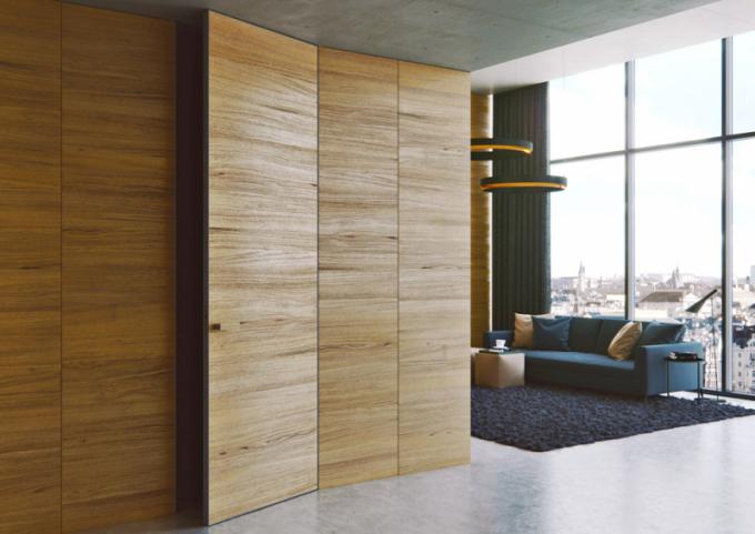 Dveře Master Door se skrytou zárubní Efekta (J.A.P. Future), dřevodekor vúpravě selský dub, cena cca od14944Kč,  WWW.dvere-jap.CZ