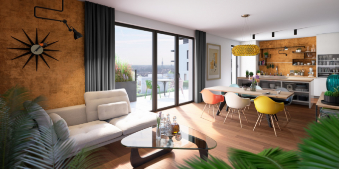 """Ve druhé etapě, která je momentálně ve fázi povolovacího procesu, se nacházejí byty, vily a řadové rodinné domy. Celý urbanistický koncept """"bydlení v parku"""" tvoří 148 bytů, 38 řadových rodinných domů a 5 samostatných vil, které jsou realizovány pod značkou top'rezidence POMEZÍ."""