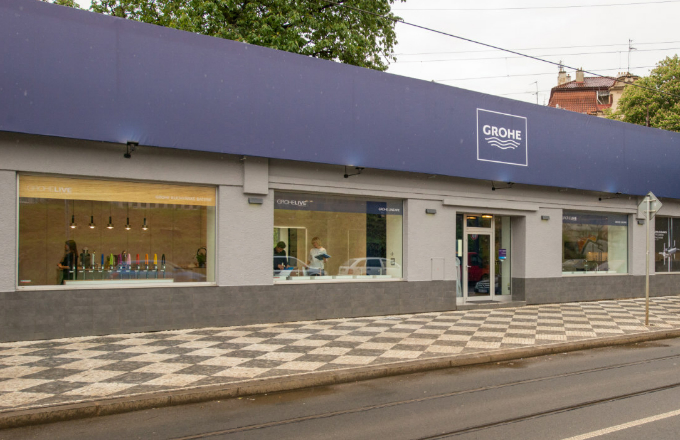 Exkluzivní showroom GROHE v novém unikátním designu