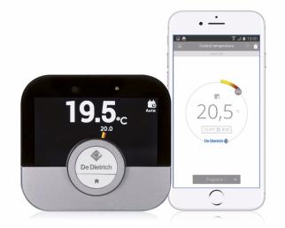 Prostorový termostat SMART TC° (DE DIETRICH) smobilní aplikací, cena od5900Kč,  www.dedietrich.cz