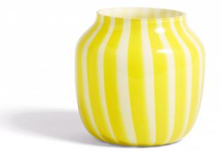 Dekorativní váza Juice (Hay), design Kristine Five Melvær, sklo, Ø 22cm, výška 22cm, www.lino.cz