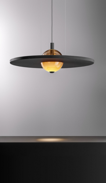Stropní osvětlení Eclipse Nuance Silence (Olev), design Marc Sadler,  hliník asklo,  www.olevlight.com