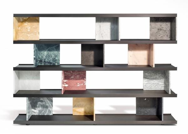 Knihovna Colonnata (Salvatori), design Piero Lissoni, dřevo amramor, 240 × 35,8 × 72cm, cena nadotaz, WWW.MILIASHOP.COM