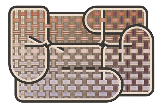 Struktura vzoru vyzdvihnutá do popředí je základním záměrem designérky Claire Vos, která prostřednictvím solitérního koberce Tangle Medan (Moooi Carpets) oslavuje textilní řemeslo, poukazuje na dokonalost propojení formy a techniky a hravosti i zručnosti. Je dostupný v několika rozměrech a materiálových zpracováních. Cena od 61 551 Kč, WWW.BULB.CZ