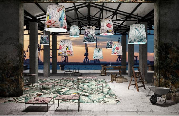 Kolekce Infinita primavera je součástí projektu Custom-me. Tapety, kromě své tradiční role na stěnách, mohou být potiskem křesla, lampy, stolu i textílií. Stačí tak jen vybrat materiál, který výrobce nabízí a najít odvahu kexperimentování.