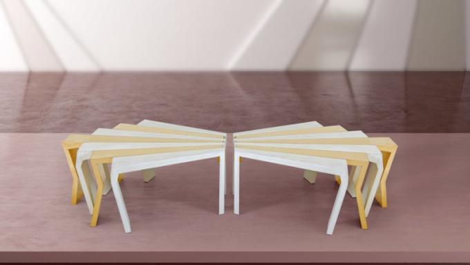 Konferenční stolek CHAOS (kolekce FORMITABLE, design Wael Farran Studio)