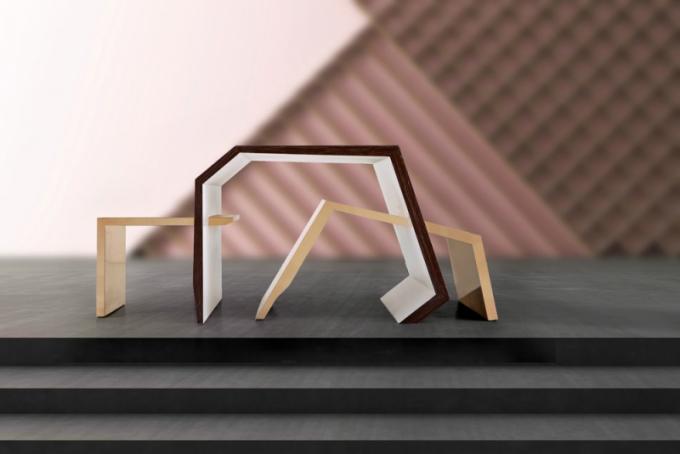 Konferenční stolek PARADOX (kolekce FORMITABLE, design Wael Farran Studio)