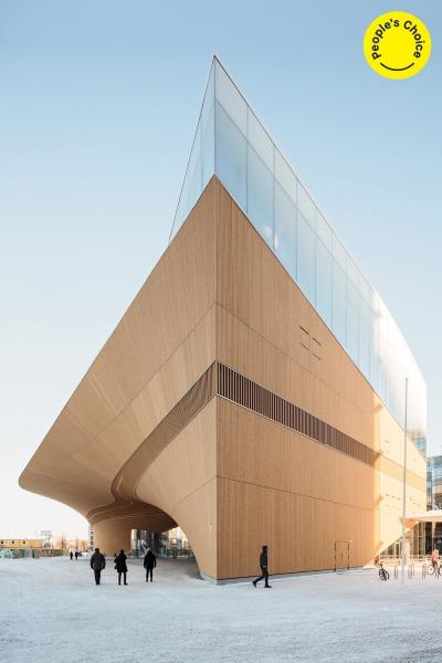 Stavby nad 1 000 m2: ALA Architects (Finsko): Knihovna Oodi, Helsinki, Finsko