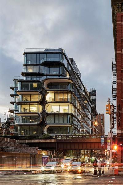 Residenční stavby: Zaha Hadid Architects (Spojené království): 520 West 28th, New York City, USA