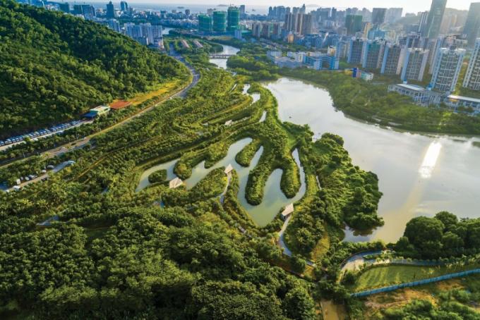 Krajinná architektura: Turenscape (Čína): Sanya Mangrove Park, Sanya City, Čína