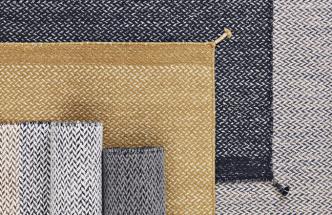 Výběr koberců Ply (Muuto), 100% novozélandská vlna, 85 × 140, 170 × 240 nebo 200 × 300cm, cena 5936Kč, www.stockist.cz