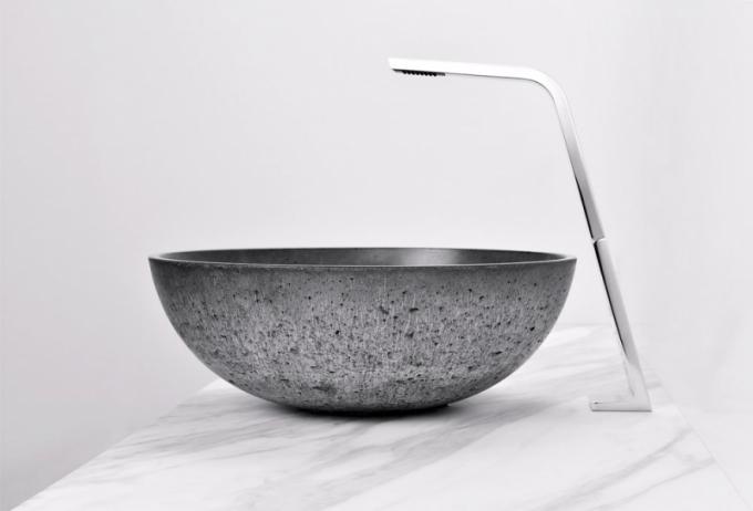 Tenkostěnné umyvadlo nadesku ORB (Gravelli), design Tomáš Vacek, průměr 42cm, výška 15cm, cena nadotaz, www.perfecto.cz