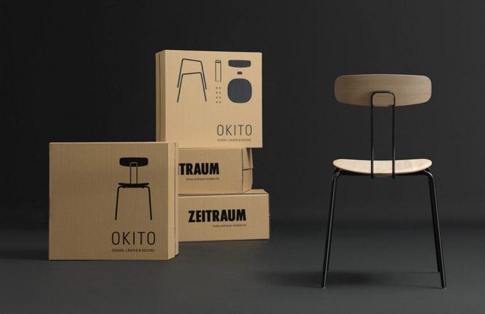 Židle Okito (Zeitraum) kombinuje masivní dřevo s lakovanou kovovou konstrukcí, která váží méně než 5 kg, a přesto vyniká vysokou odolností. Vhodná je i do zátěžových prostor, o čemž svědčí certifikát Catas/Level 2. Židle je stohovatelná a zcela demontovatelná, umožňuje tedy dodání v úsporném balení, což potěší především všechny příznivce naší planety. Design Julia Läufer a Marcus Keischel, rozměry 47 × 48 × 79 cm, výška sedu 46 cm. Cena od 16 601 Kč, WWW.STOCKIST.CZ