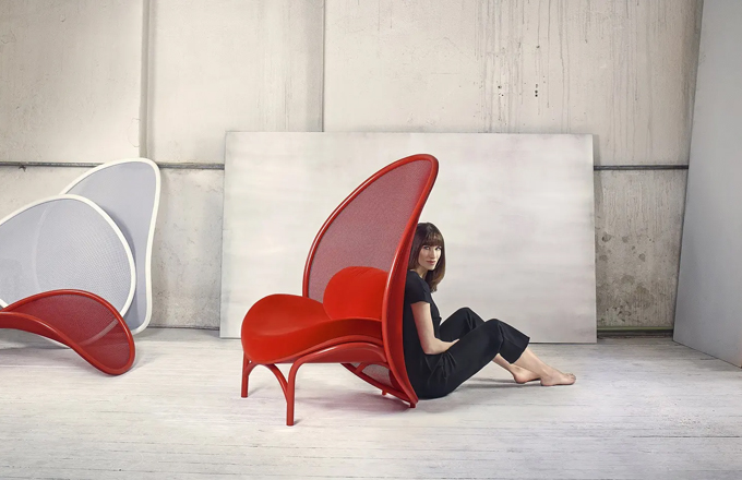 Lucie Koldová - TON - Chips lounge chair