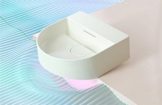 Třetí generaci materiálu SaphirKeramik dokonale prezentuje kolekce Sonar (Laufen) španělské designérky Patricie Urquioly.