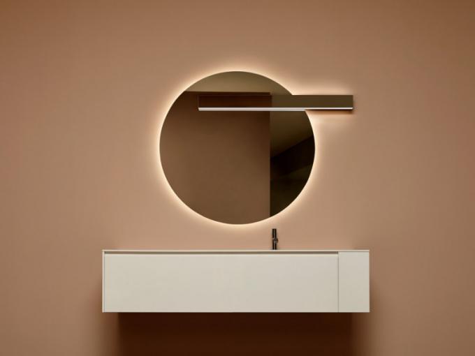 Svítidlo Lucente určené kinstalaci nazrcadlo (Antonio Lupi), design AL Studio, cena nadotaz, WWW.ANTONIOLUPI.IT