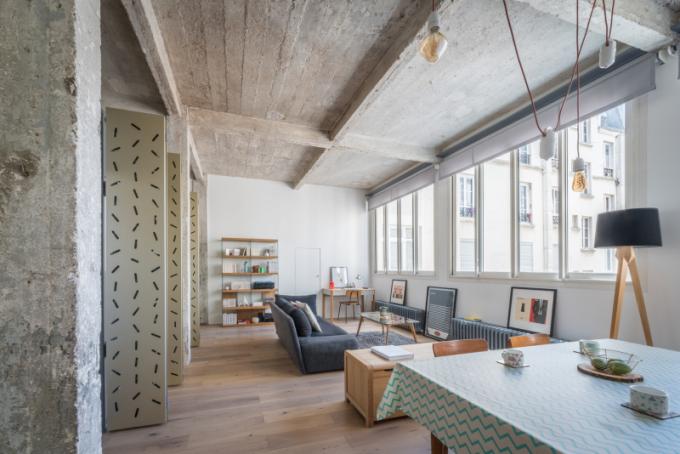 Studio SABO project u loftu Voltaire využívá inovativní prostorové strategie, materiály a mechanismy k docílení alternativního způsobu bydlení zohledňující trend neustále se zmenšujících městských bytů.
