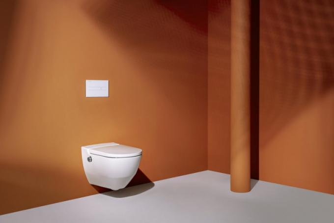 WC Cleanet Navia (Laufen), design Peter Wirz, keramika  58 ×37 × 40,5cm,  cena 90792Kč,  www.laufen.cz