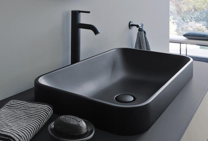 Umyvadlo Happy D.2 plus (Duravit), design Sieger Design, keramika 60 × 40cm, cena od17244Kč,  www.duravit.cz