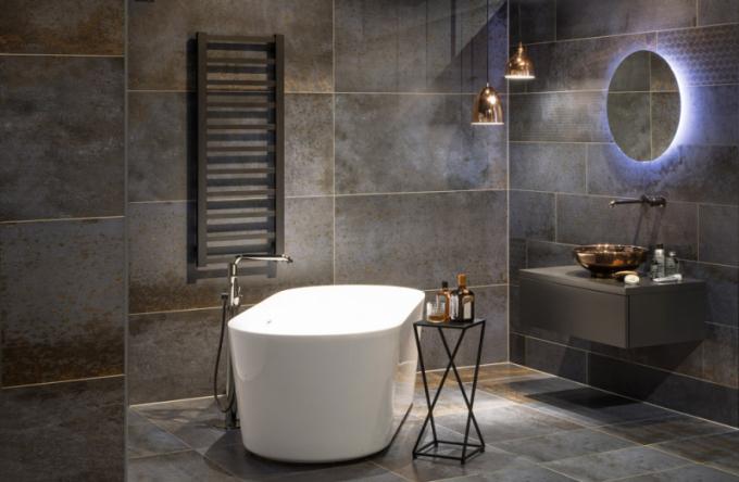 Volně stojící vana Zara (Laguna), materiál akrylát, rozměr 169 × 80 ×61cm, cena 24990Kč, více okoupelnovém konceptu Metal na koupelny-koncepty.siko.cz