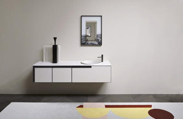 Integrované umyvadlo Breccia (Antonio Lupi), design Mario Ferrarini, materiál Flumood Satin, lze zhotovit namíru, cena nadotaz,  www.antoniolupi.it