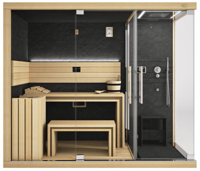 Sauna Sasha Mi (Jacuzzi), programy biosauna, římská afinská sauna, 260 × 120 × 225cm, cena od663080Kč, www.albixon.cz