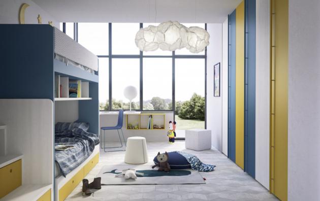 Dětský pokoj Nidi 13 (Nidi), lamino desky 19 až 50mm, více barev, materiál ilak nejvyšších ekologických nároků EU, cena od135800Kč, www.space4kids.cz