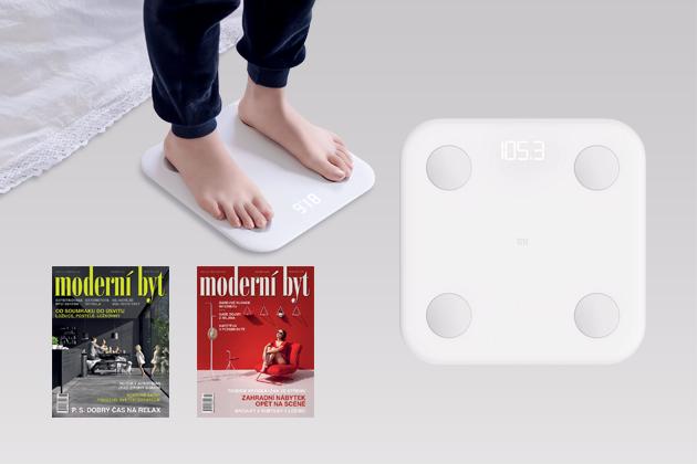 Chytrá váha Mi Body Composition (Xiaomi) změří také svalovou akostní hmotu, tělesný tuk, obsah vody vtěle, BMI, díky aplikaci MI Fit sledujete vesmartphonu statistiky, cíle ahodnocení, cena 1199Kč.
