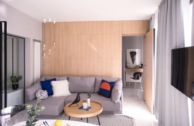 Úkolem studia ATG Design bylo přeměnit byt s jednou ložnicí na funkční obytný prostor pro tříčlennou rodinu.