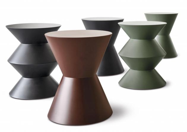 Kávové stolky Cesar (Minotti), design Rodolfo Dordoni design, více materiálových zpracování, lakovaná povrchová úprava, výška 45cm, ø 36cm, cena nadotaz, www.minotti.com