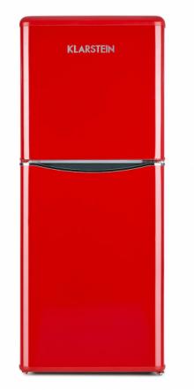 Kombinovaná retro lednice Monroe L (Klarstein), A+, varianta včervené nebo černé barvě, snádechem 50. let, cena 7499Kč, WWW.KLARSTEIN.CZ