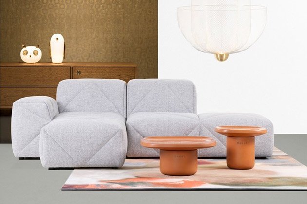 Speciální technika prošívání se stala hlavním motivem sofa BFF (Moooi), jehož autorem je Marcel Wanders.