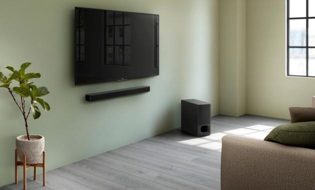 Jedním dostupných a elegantních modelů je 2.1kanálový soundbar HT-S350 (Sony). Výhodou je, že díky rozhraní HDMI ARC stačí k připojení televizoru jediný kabel.