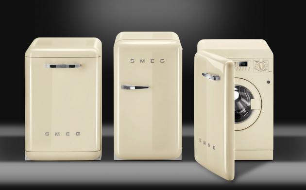 Volně stojící pračka LBB14CR-2 (Smeg), Linea 50's Style Retro, 60cm, Creme třída A++, cena nadotaz, WWW.SMEG.CZ