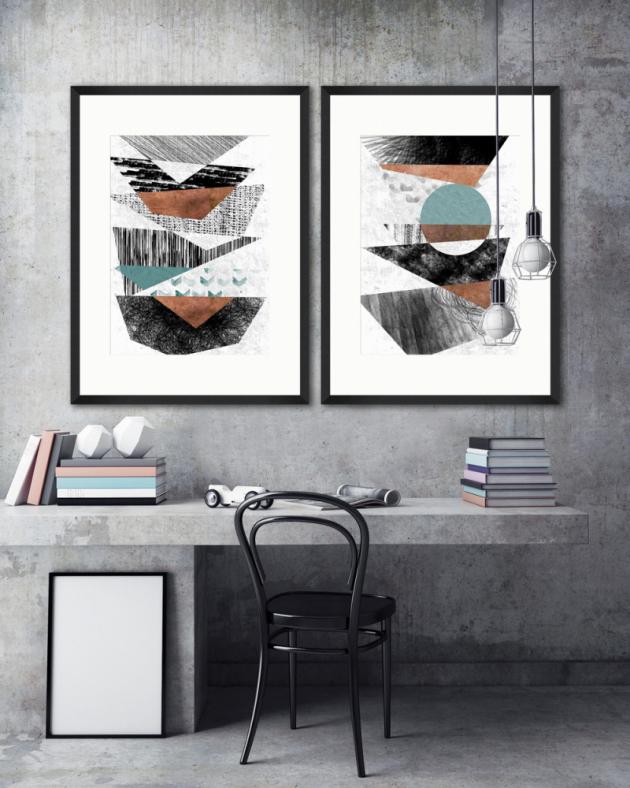 Plakáty zkolekce Modern Theory (Mind The Gap), 70 × 100cm, cena od6487Kč, www.mindtheg.com