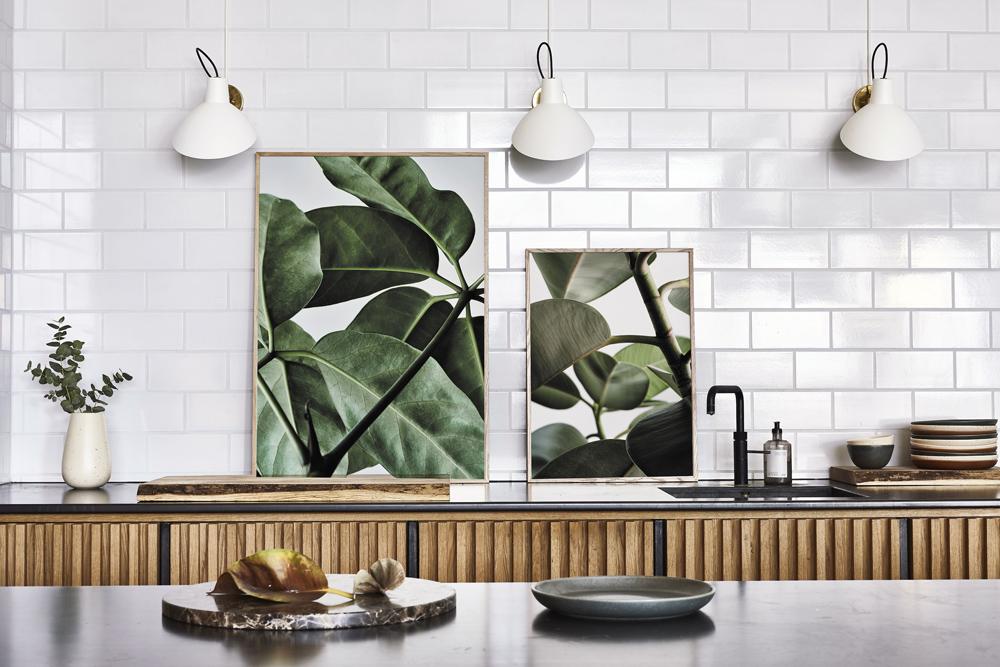 Plakáty zkolekce Green Home (Paper Collective), foto Riikka Kantinkoski,  30 × 40 a50 × 70cm, cena od1030Kč,  www.papercollective.com