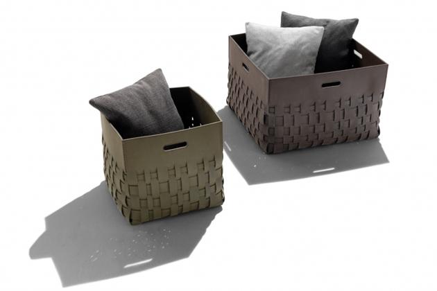 Všestranně využitelné úložné boxy Cesta Outdoor, které vsobě skrývají extrémní praktičnost avysokou míru dekorativnosti, jsou vhodné jak dointeriéru, tak idoexteriéru.