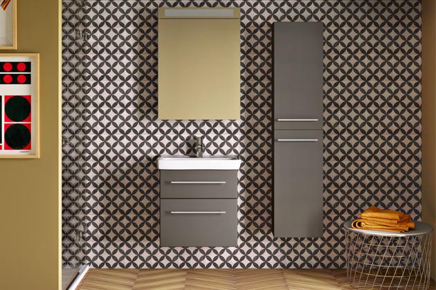 Koupelnová skříňka zřady Go (Dřevojas) vč. umyvadla Mini, dostupné šířky 50, 55, 60cm, hloubka pouhých 38cm, cena od8990Kč, WWW.DREVOJAS.CZ