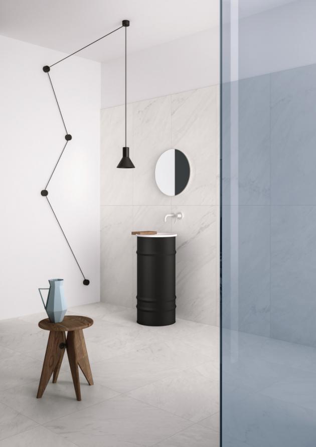 Velkoformátová dlažba Core Shade (Graniti Fiandre), pololesklý povrch, několik formátů, typ 60 × 120cm, cena 1199 Kč/m2,www.siko.cz