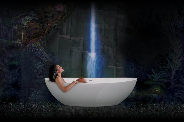 Volně stojící vana Namur (Hoesch), oválná, úzké okraje vany, cena 54200Kč, WWW.REUTER.COM